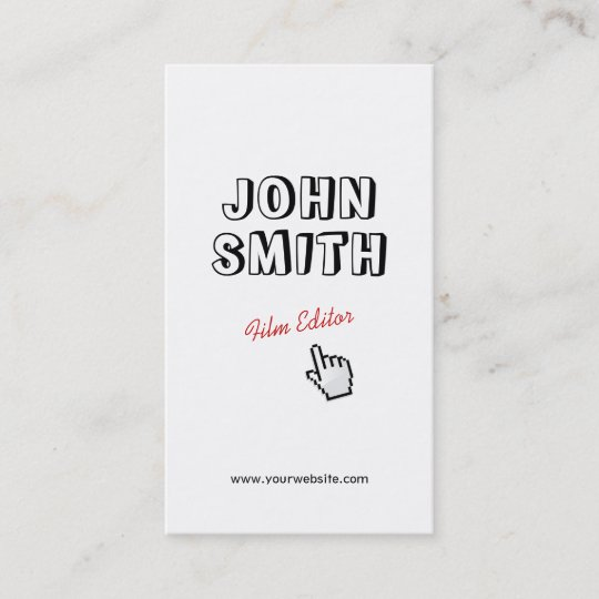 Click outline text film editor business card zazzle outline text film editor business card colourmoves