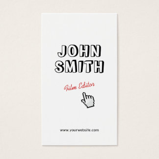 Click! Outline Text Film Editor Business Card