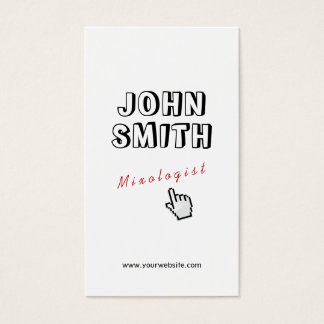 Click! Outline Text Mixologist Business Card