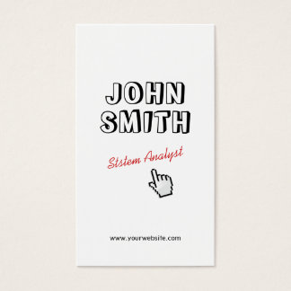 Click! Outline Text System Analyst Business Card