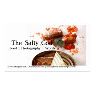 click, The Salty Cod, Food | Photography | Word... Business Card
