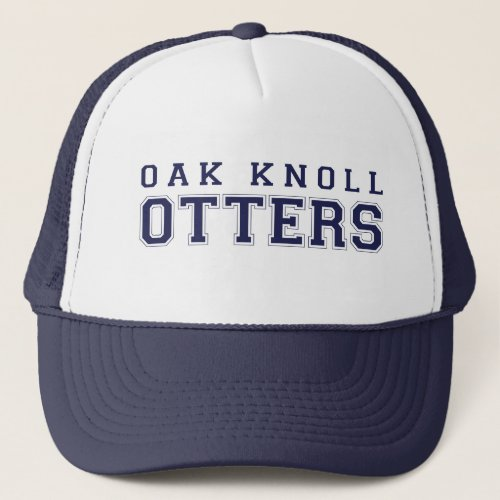 click to change hat color Oak Knoll Otters