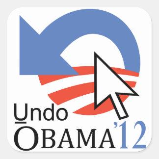 """Click """"Undo"""" Obama Sticker"""