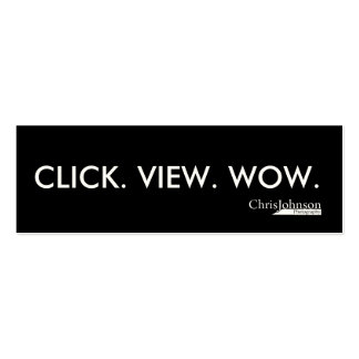 CLICK VIEW WOW Double-Sided MINI BUSINESS CARDS (Pack OF 20)