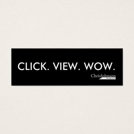 CLICK VIEW WOW MINI BUSINESS CARD