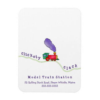 Clickety Clack Train vertical Magnet
