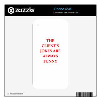 CLIENT iPhone 4S DECALS