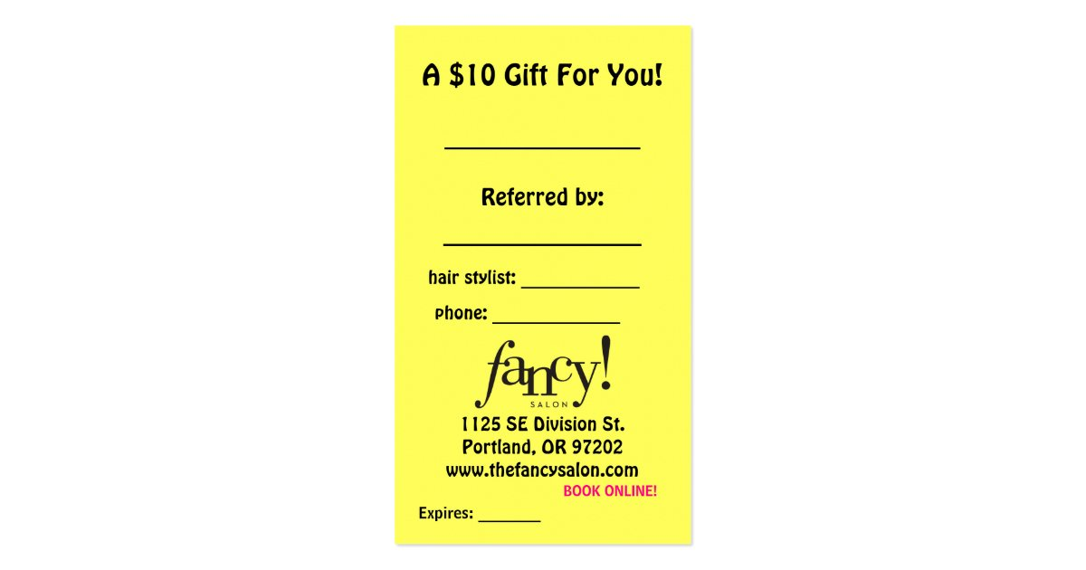 Client referral cards zazzle for Zazzle referral cards