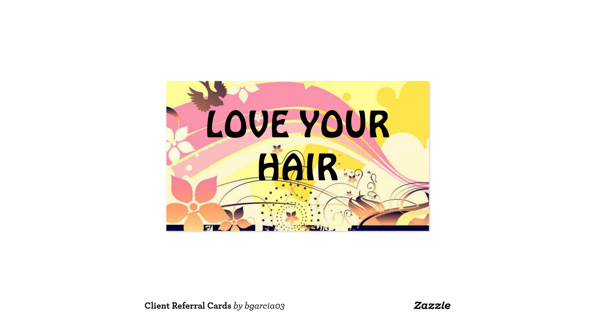 Client referral cards double sided standard business cards for Zazzle referral cards