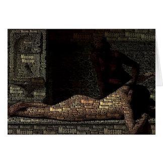 Cliente histórico de la terapia del masaje del tarjeta de felicitación