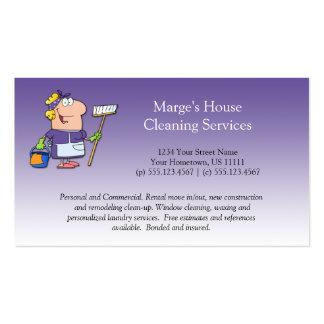 Cliente púrpura Loy de la limpieza de la casa de l Tarjetas De Visita
