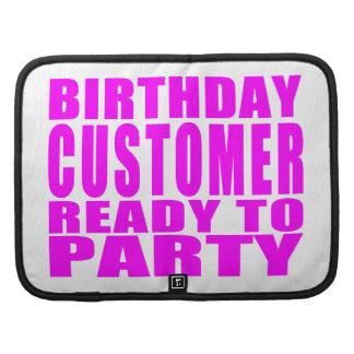 Clientes: Cliente del cumpleaños listo para ir de Planificadores