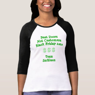 Clientes viernes negro de las puertas del busto no camiseta