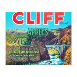 Cliff Apple Label - Chelan Falls, WA Canvas Print