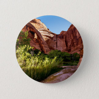Cliff Arch Sunrise - Coyote Gulch - Utah Button