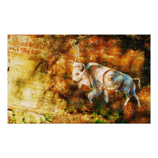 Cliff Art native american Poster