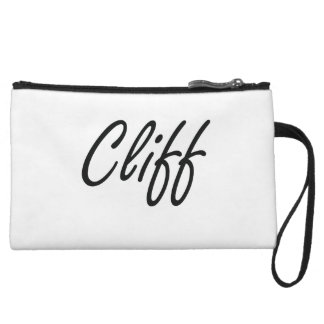 Cliff Artistic Name Design Wristlet Clutch