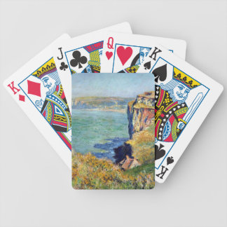 Cliff at Grainval by Claude Monet Bicycle Playing Cards