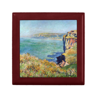 Cliff at Grainval by Claude Monet Jewelry Box