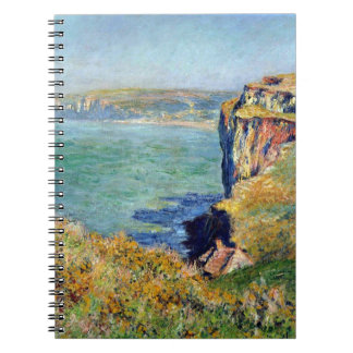 Cliff at Grainval by Claude Monet Notebook
