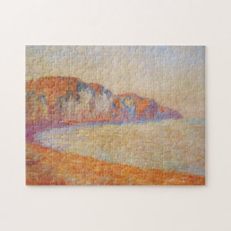 Cliff at Pourville in the Morning Monet Fine Art Puzzle