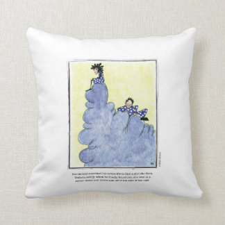 CLIFF cartoon by Ellen Elliott Throw Pillow