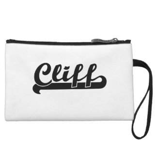 Cliff Classic Retro Name Design Wristlets