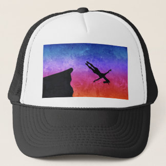 Cliff Dive Unicorn Trucker Hat