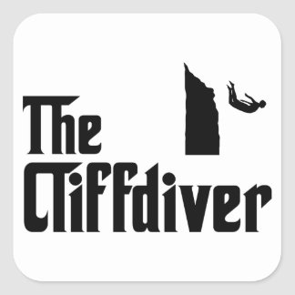 Cliff Diving Square Sticker