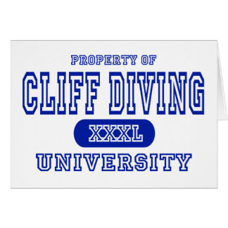 Cliff Diving University Greeting Card