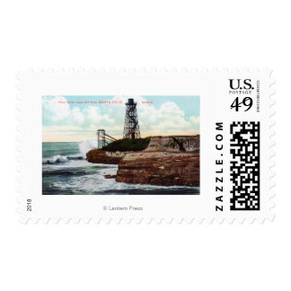 Cliff Drive View of the Wave Motor Postage