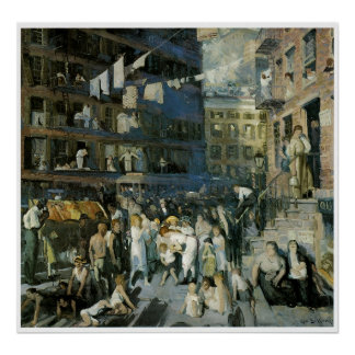 Cliff Dwellers, 1913 George Bellows Poster