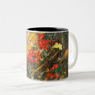 Cliff Dwellers Abstract 2 Two-Tone Coffee Mug