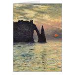 Cliff, Etretat, Sunset by Claude Monet Vintage Art Greeting Card