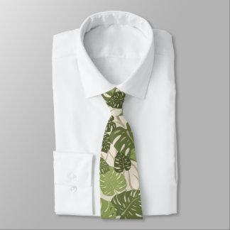 Cliff Hanger Hawaiian Monstera Special Cut'n Sewn Tie