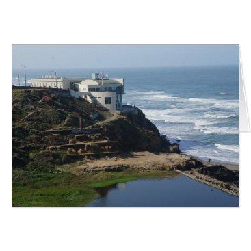 Beach Themed Cliff House San Francisco California Card