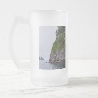 Cliff In Kenai Painterly Frosted Glass Beer Mug