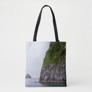 Cliff In Kenai Painterly Tote Bag