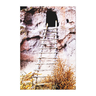 Cliff Ladder to the Unknown Gallery Wrap Canvas