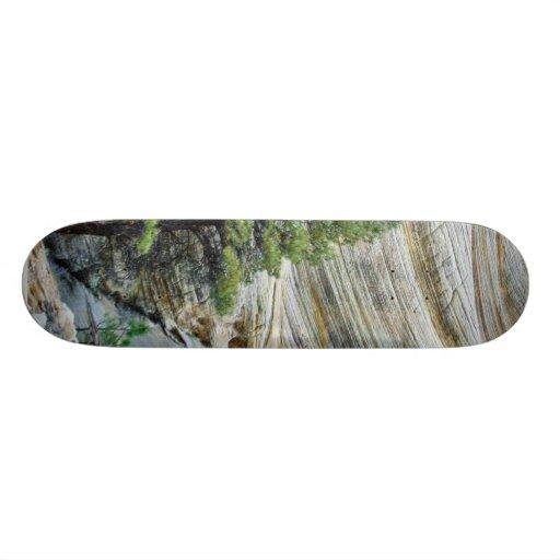 Cliff Near The Checkerboard Mesa Region Of Zion Na Skate Board Decks