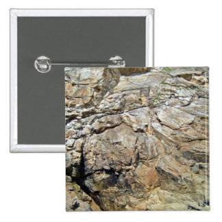 Cliff Of Rock Mountain Pinback Button