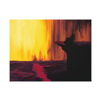 Cliff of the Negative Planetoid II Canvas Print