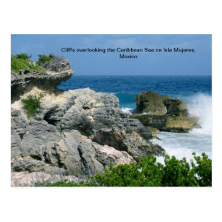Cliff on Isla Mujeres Postcard