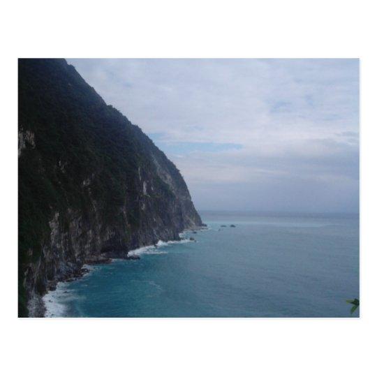 cliff seascape postcard