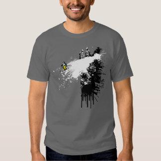 Cliff Skier Design Tee Shirt
