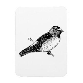 Cliff Swallow Bird Illustration Flexible Magnets