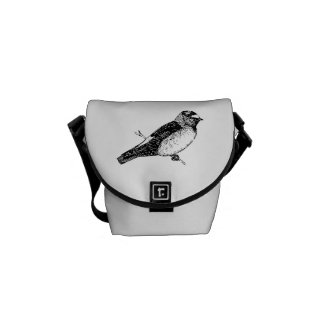 Cliff Swallow Bird Illustration Courier Bags
