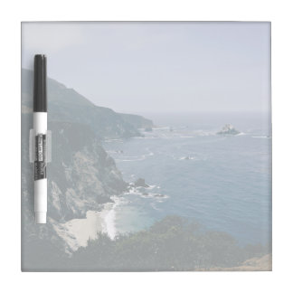 Cliff Themed, A View Of An Ocean, Mountains And Gr Dry-Erase Whiteboard