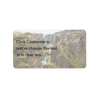 Cliff Themed, Incredible Mossy Cliff Flanking Narr Address Label