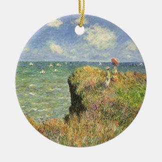Cliff Walk at Pourville by Claude Monet Ceramic Ornament